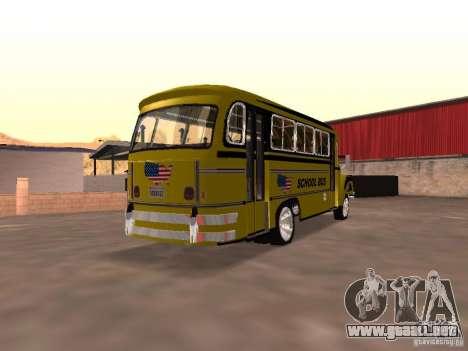 Bedford School Bus para la visión correcta GTA San Andreas