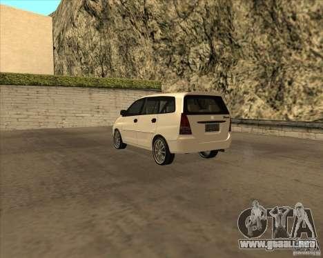 Toyota Innova para la visión correcta GTA San Andreas