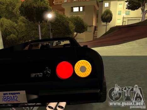 Ferrari 288 GTO para vista inferior GTA San Andreas