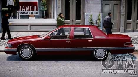 Buick Roadmaster Sedan 1996 v 2.0 para GTA 4 Vista posterior izquierda