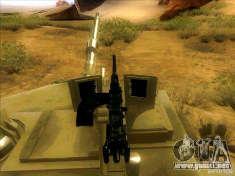 M1A2 Abrams de Battlefield 3 para la vista superior GTA San Andreas