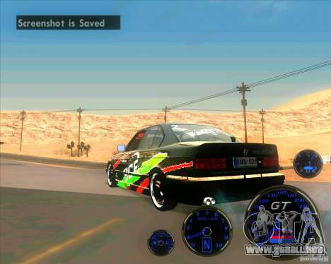 BMW E34 V8 - Darius Balys para GTA San Andreas left
