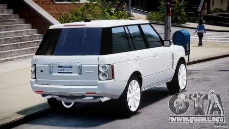 Range Rover Supercharged 2009 v2.0 para GTA 4 vista lateral
