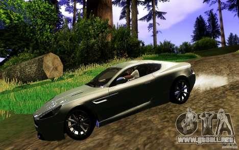 Aston Martin Virage V1.0 para la visión correcta GTA San Andreas