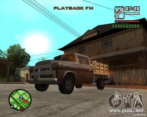 Walton HD para GTA San Andreas vista posterior izquierda