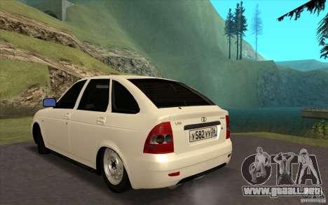Lada Priora 2172 Hatchback para GTA San Andreas left