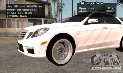 Wheels Pack by EMZone para GTA San Andreas sucesivamente de pantalla