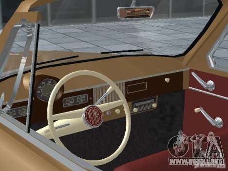 Moskvich 403 Cabrio para GTA San Andreas vista hacia atrás