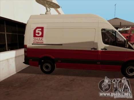 Mercedes-Benz Sprinter 5 canales para la visión correcta GTA San Andreas