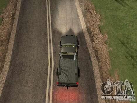Chevrolet Silverado 2012 para GTA San Andreas vista hacia atrás