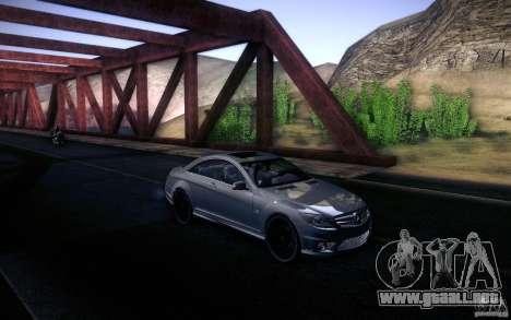 Mercedes Benz CL65 AMG para visión interna GTA San Andreas