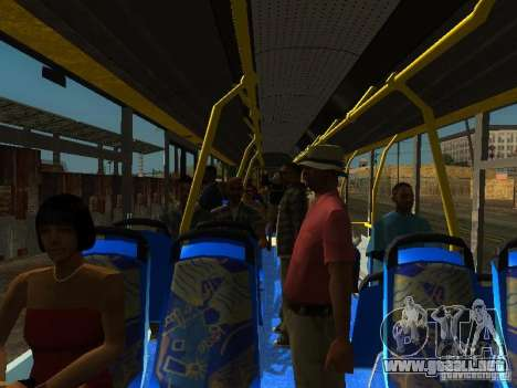 Trolebús LAZ E301 para vista lateral GTA San Andreas