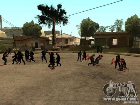 La lucha con las katanas en Grove Street para GTA San Andreas segunda pantalla