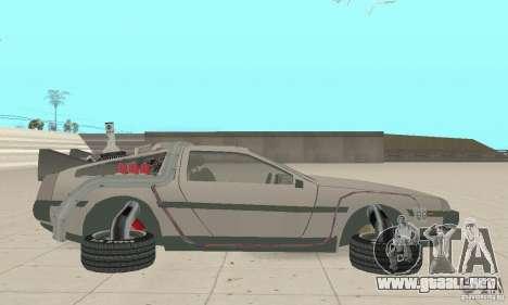 DeLorean DMC-12 (BTTF2) para GTA San Andreas left