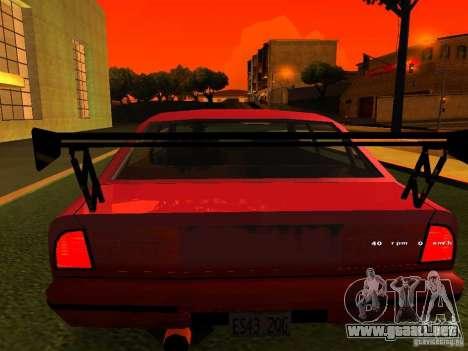 Emperor GT para GTA San Andreas vista hacia atrás