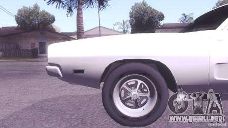 Dodge Charger R/T para GTA San Andreas vista hacia atrás