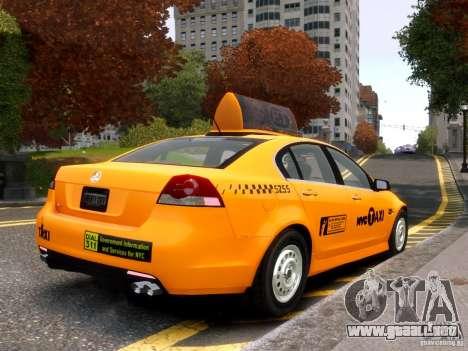 Holden NYC Taxi para GTA 4 visión correcta