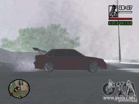 VAZ 2115 TUNING para GTA San Andreas vista posterior izquierda