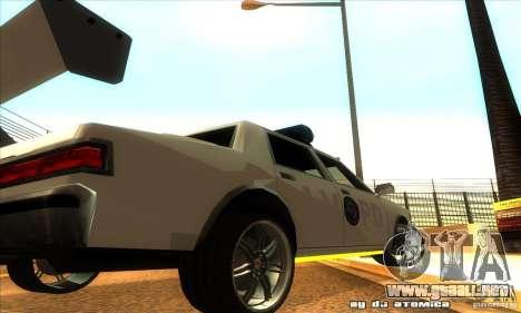 Police Hero v2.1 para GTA San Andreas vista hacia atrás
