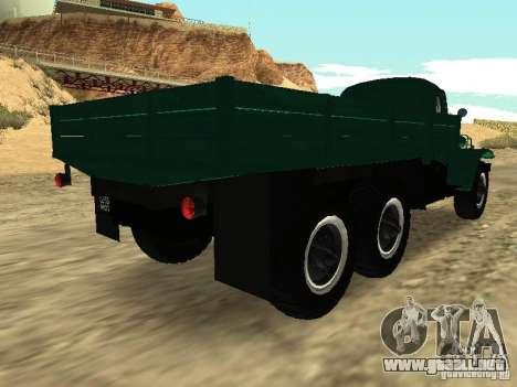 ZIL 157 para GTA San Andreas vista posterior izquierda