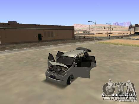 Toyota Avanza Street Edition para GTA San Andreas vista hacia atrás
