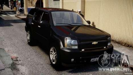 Chevrolet Tahoe 2007 para GTA 4 vista lateral