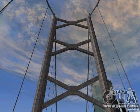 Nuevas texturas de tres puentes en SF para GTA San Andreas segunda pantalla