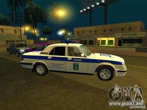 GAZ 31105 policía para GTA San Andreas left