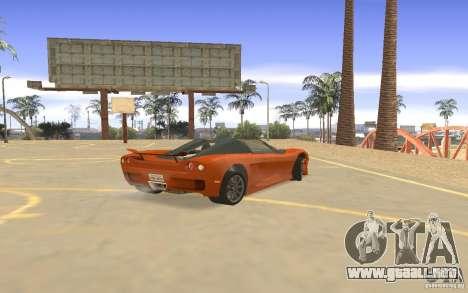 Veloche coche para la visión correcta GTA San Andreas