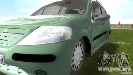 Citroen C3 para GTA Vice City visión correcta