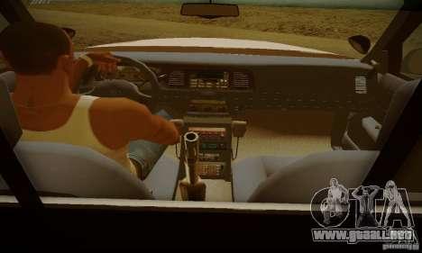 Ford Crown Victoria Missouri Police para GTA San Andreas vista posterior izquierda