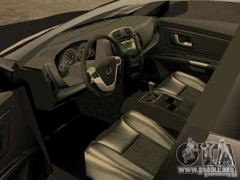 Cadillac CTS para GTA San Andreas vista posterior izquierda
