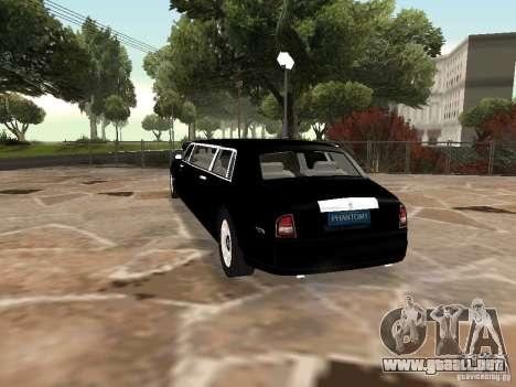 Chofer de limusina Rolls-Royce Phantom 2003 para GTA San Andreas left