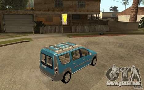 Dacia Logan Steppe Concept para la visión correcta GTA San Andreas