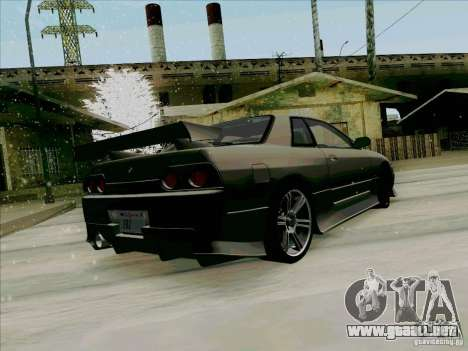 Nissan Skyline GTS-T para GTA San Andreas vista posterior izquierda