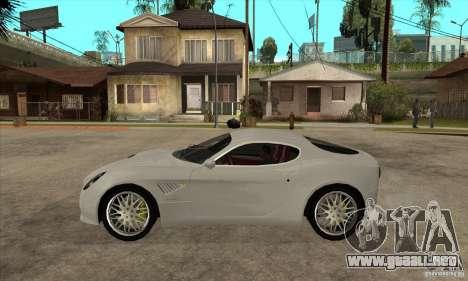 Alfa Romeo 8 c Competizione stock para GTA San Andreas vista posterior izquierda