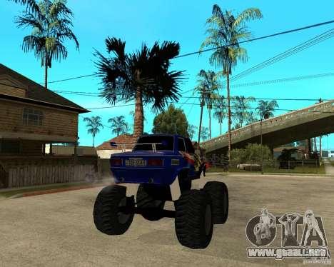 MONSTRUO ZAZ para GTA San Andreas vista posterior izquierda