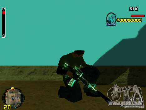 Blue weapons pack para GTA San Andreas séptima pantalla