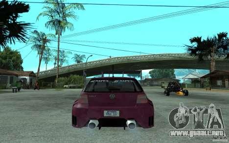 Volkswagen Golf GTI 4 Tuning para GTA San Andreas vista posterior izquierda