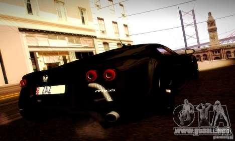 Noble M600 Final para GTA San Andreas vista hacia atrás