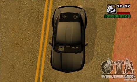Chevrolet Camaro Concept Z06 2007 para vista lateral GTA San Andreas