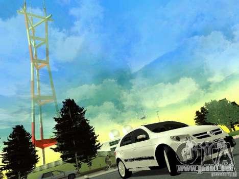 Volkswagen Gol Rallye 2012 para GTA San Andreas vista posterior izquierda