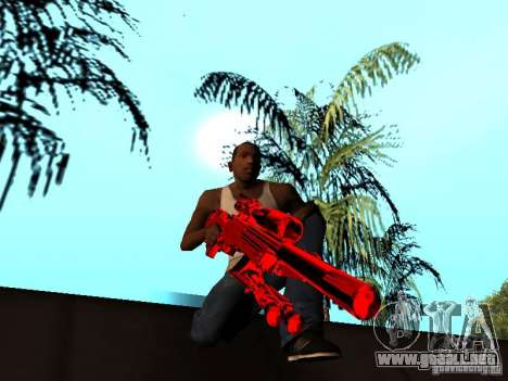 Red Chrome Weapon Pack para GTA San Andreas twelth pantalla