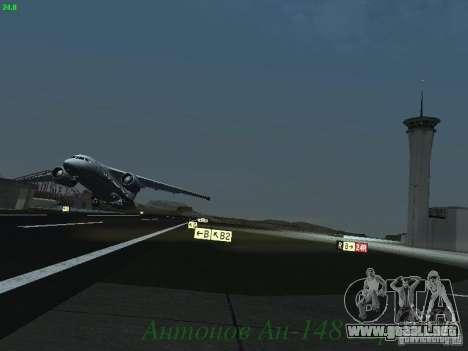 Antonov an-148 Aerosvit Ukrainian Airlines para visión interna GTA San Andreas