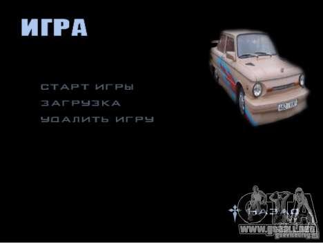 El nuevo menú de juego para GTA San Andreas