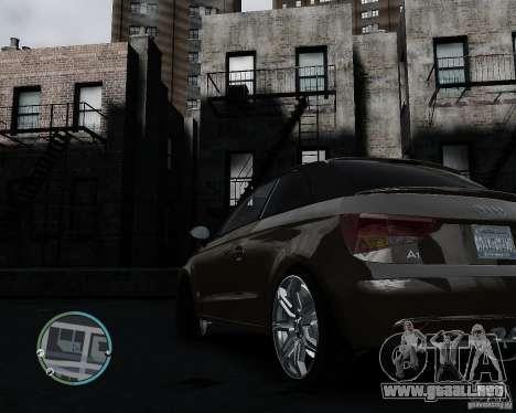 Audi A1 v.2.0 para GTA 4 vista hacia atrás