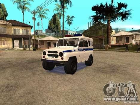 Policía UAZ para GTA San Andreas