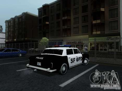 Stafford Police SF para GTA San Andreas vista posterior izquierda