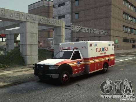 Ford F-350 Ambulance FDNY para GTA 4