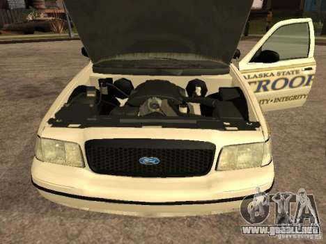 Ford Crown Victoria 2003 Police para la visión correcta GTA San Andreas